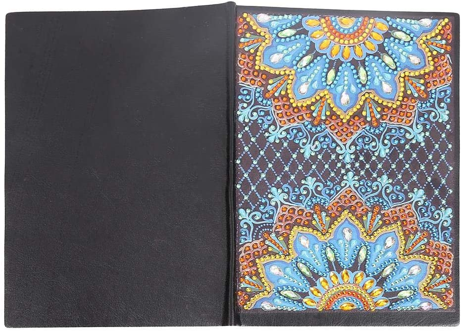 DIY Mandala Special Shaped Diamond Painting Students 50 Pages A5 Notebook Diamond Painting Cover Notebooks