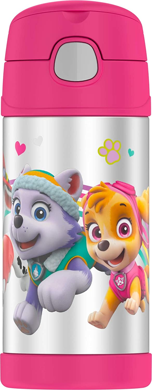 Thermos Funtainer 12 Ounce Bottle  Paw Patrol Pink