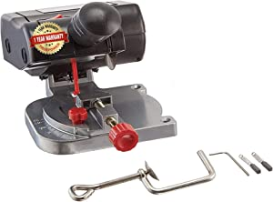 """TruePower Mini Miter Cut-Off Chop Saw for Hobby Miniature Model Making, Arrow Shafts, Zinc Stained Glass Came, 223/5.56 Brass - Max. 1/2""""Depth"""