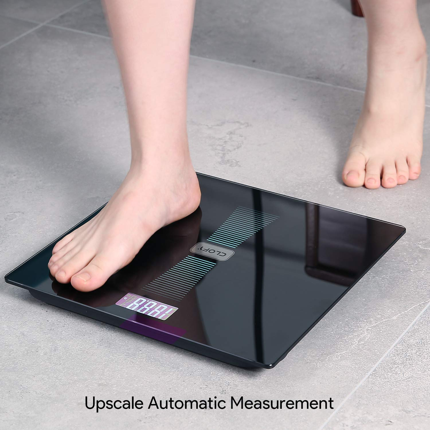 Digital Scale, Bathroom Body Weight Scale with Tempered Glass Accurate Weight Measurements Max Capacity 440lb