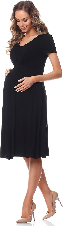 Be Mammy Damen Umstandskleid Maternity Schwangerschaftskleid BE20-217