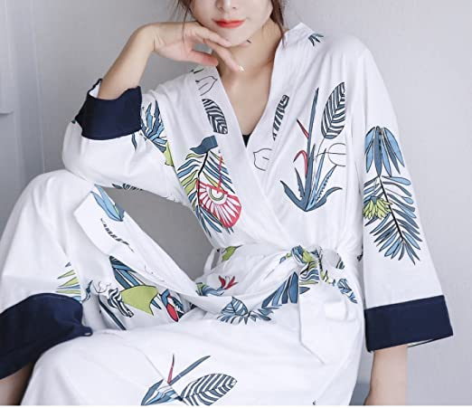 Women Men s Unisex Fall Winter Flannel Cozy Warm Home Bathrobe Bathrobe  Pajamas Padded Warm Japanese Kimono Cotton Pajamas Long Sleeve Set  of 70d3a1302