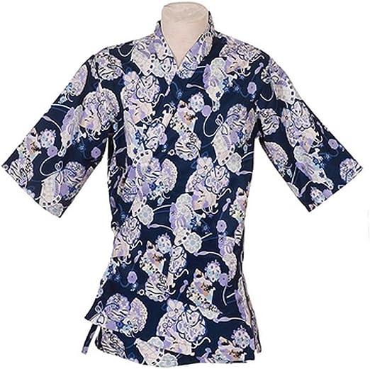 Ropa de trabajo japonesa Chaqueta de cocinero Kimono Sushi Restaurant Bar Hospitality Uniforms, # 02: Amazon.es: Hogar
