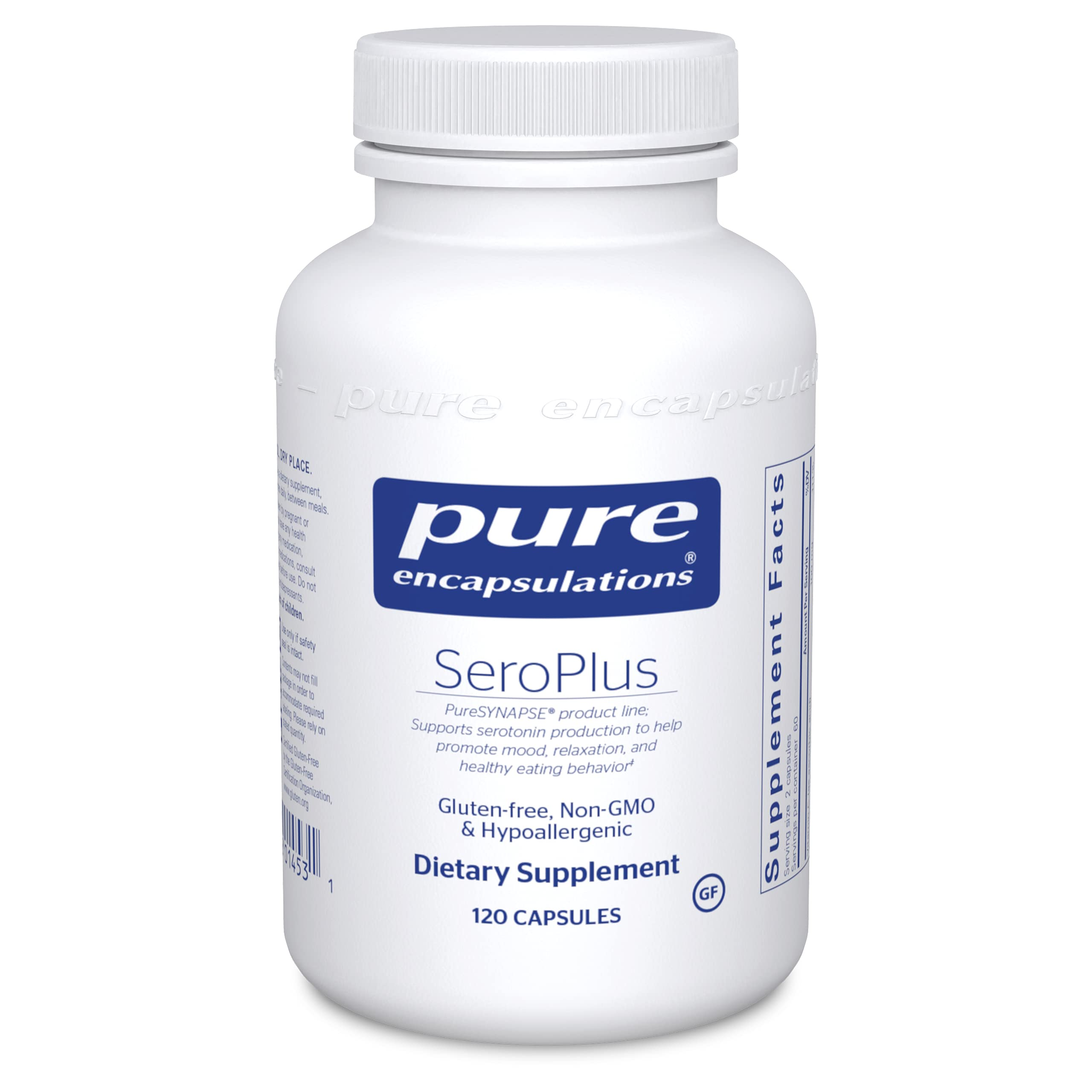 Pure Encapsulations - SeroPlus - Hypoallergenic Serotonin Support to Support Moderate Occasional Stress - 120 Capsules