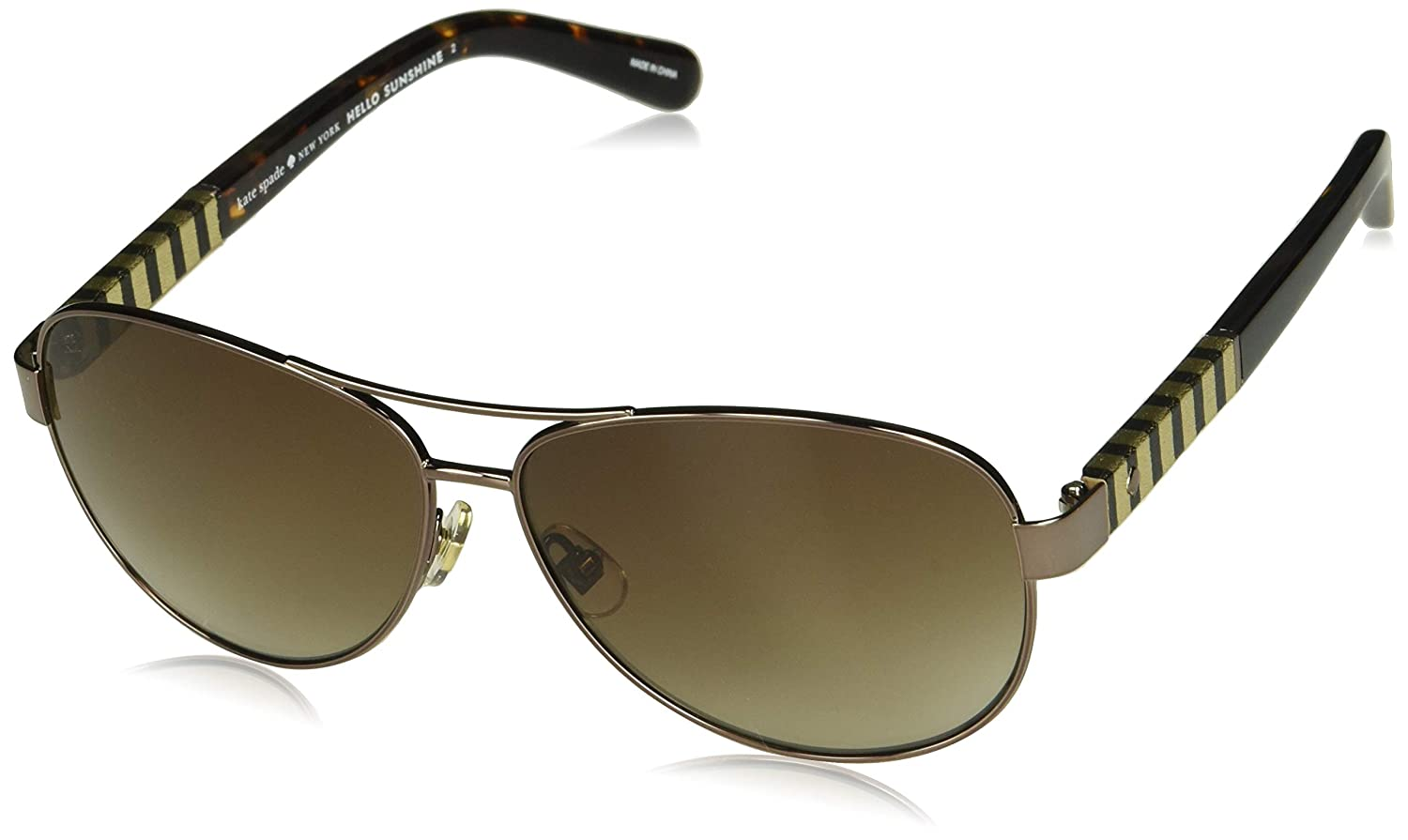 9862de111c Amazon.com  Kate Spade Women s Dalia s Us Aviator Sunglasses BRWN HVNA 58  mm  Clothing