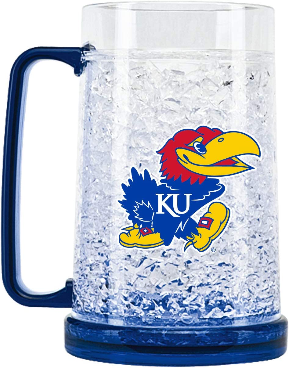 NCAA Kansas Jayhawks 16oz Crystal Freezer Mug