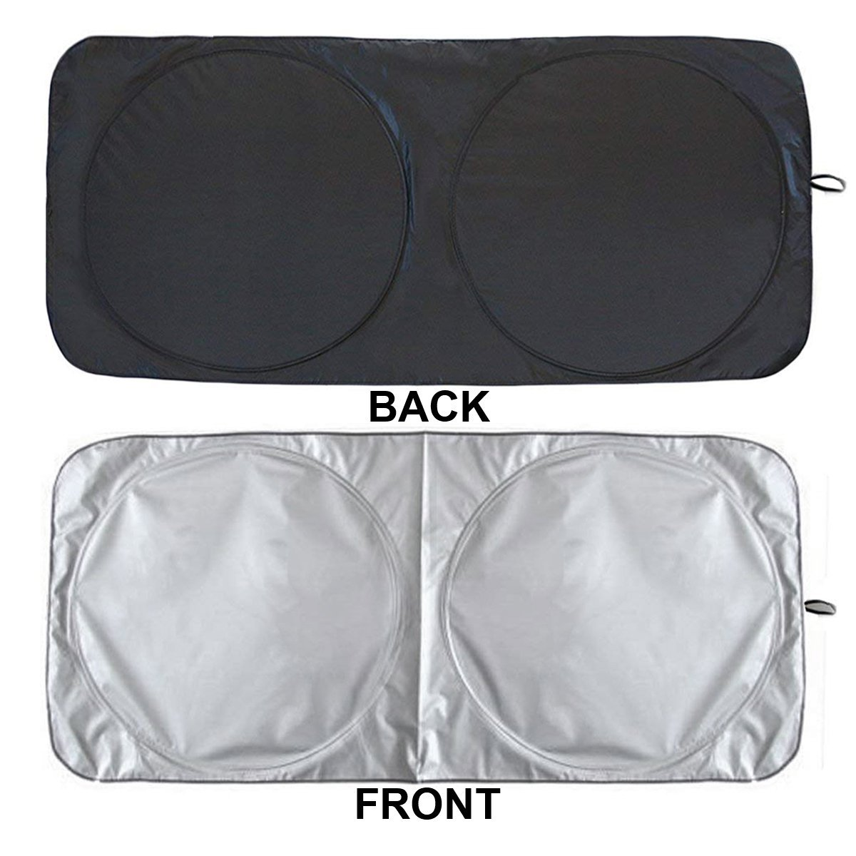 WOT I Car Sun Shade for Windshield-Durable Nylon Heat Block and UV Protection Sunshades Keeps Vehicle Cool Folding Sun Visor Heat and Sun Reflector Car Windshield Sun Shade