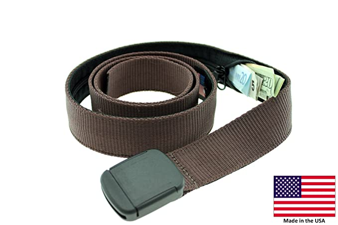 4f500ef3a8d Amazon.com  Hiker Money Belt Made in USA by Thomas Bates (Brown ...