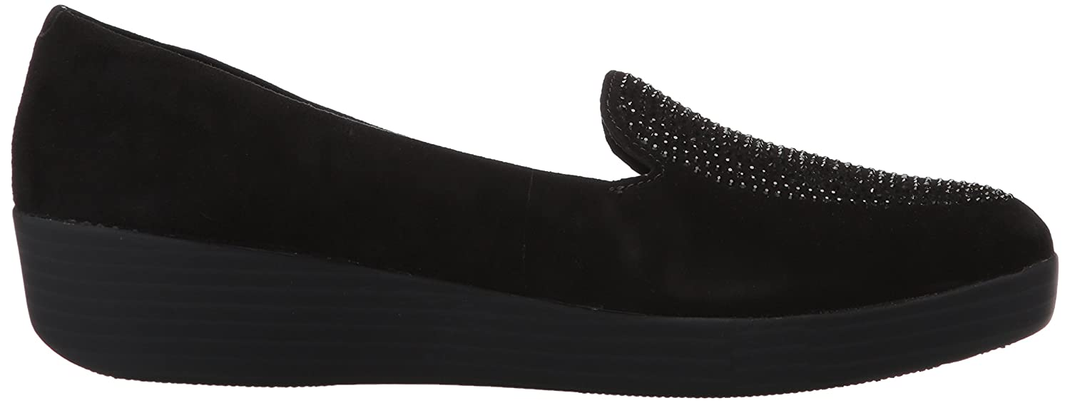 6dc3336eb12 Fit Flop Women's's Sparkly Tm Sneakerloafer Open Back Slippers Black 001, 3  UK: Amazon.co.uk: Shoes & Bags