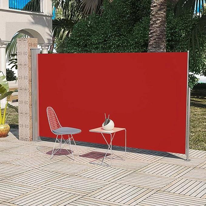 SENLUOWX Toldo Lateral de jardín o terraza 180 x 300 cm Rojo: Amazon.es: Jardín