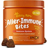 Allergy Immune Supplement for Dogs Lamb- with Omega 3 Wild Alaskan Salmon Fish Oil & EpiCor + Digestive Prebiotics & Probioti