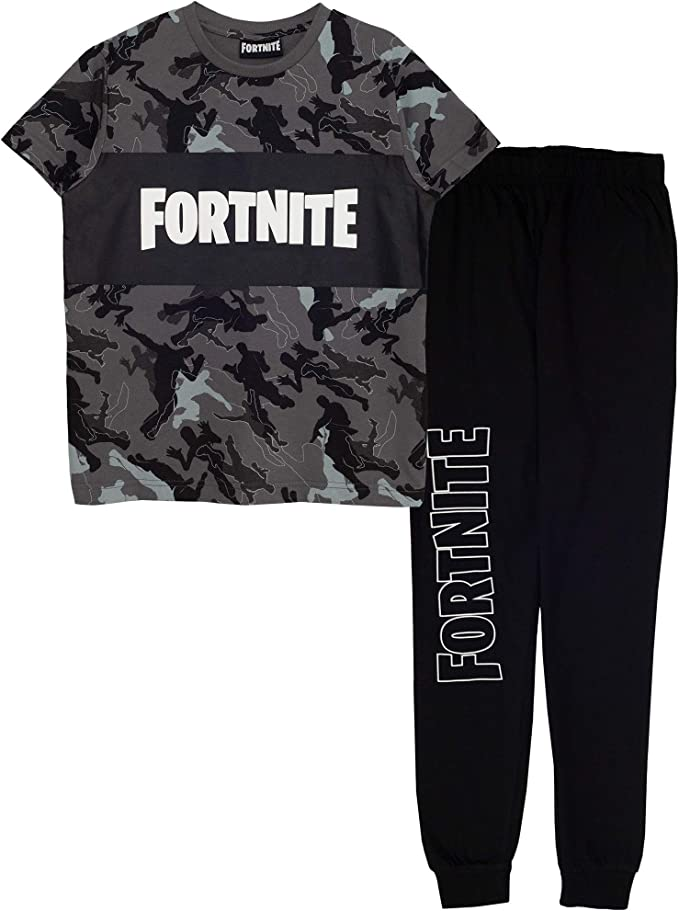 Fortnite Ombre Flossing Emote Boys Long Pyjamas Set Official Merchandise Kids Birthday Gift Idea Childrens Clothes School Boys PJs PS4 PS5 Xbox Gamer Gifts