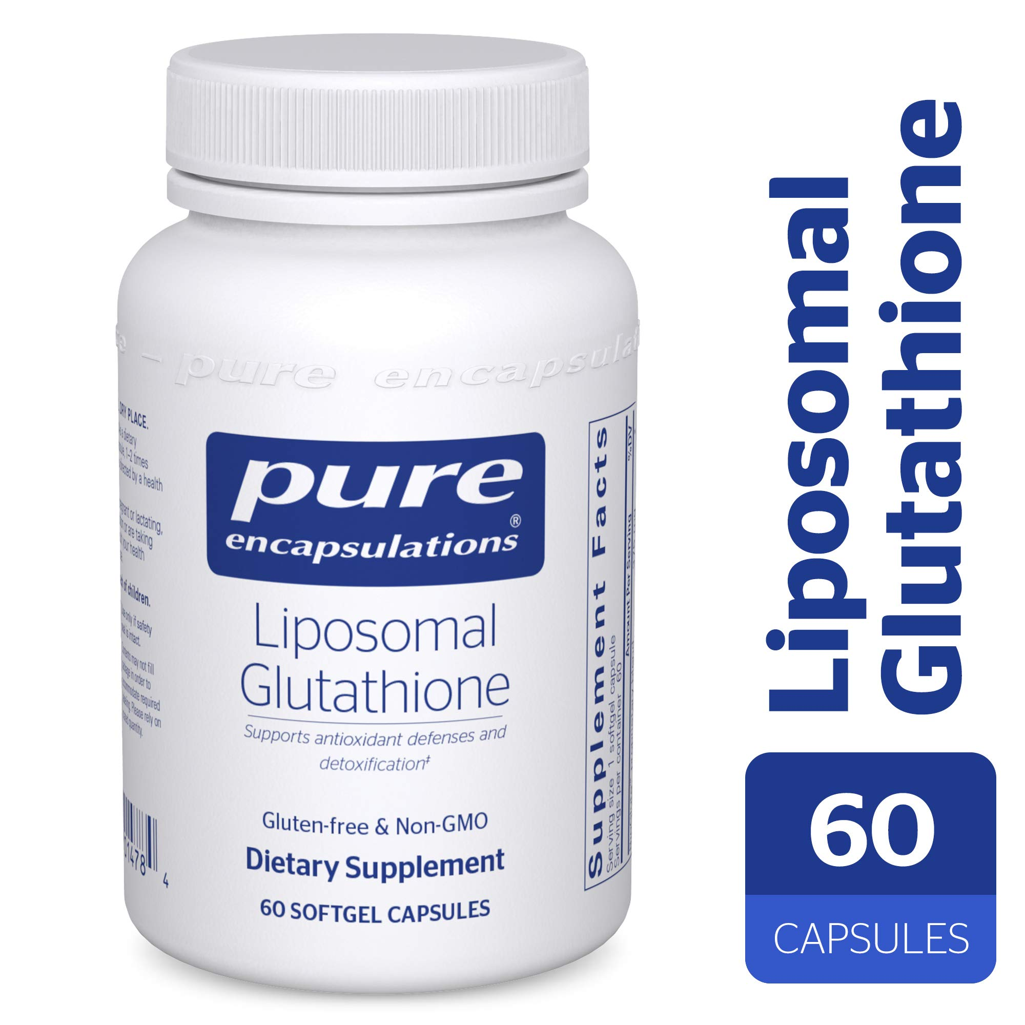 Pure Encapsulations - Liposomal Glutathione - Antioxidants, Liver Support and Detoxification* - 60 Softgel Capsules by Pure Encapsulations
