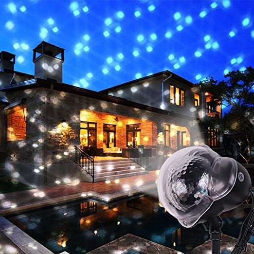 LED Proyector Luces para Navidad, Luces De Proyector De Copo De ...