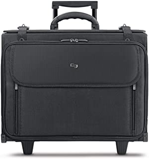 Solo New York Morgan Rolling Hard Side Catalog and Laptop Case, Black