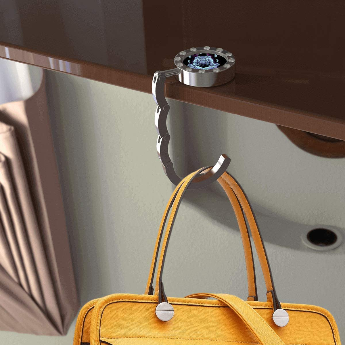 Convenient Stylish Suitable for Daily Use of Blue Mermaid Bag Hanger Round with drill Blue Mermaid Bag Hanger for Women