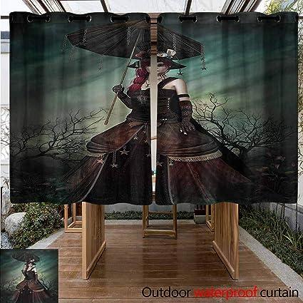 Amazon.com: Sunnyhome Cortinas para Dormitorio Gótico Spooky ...