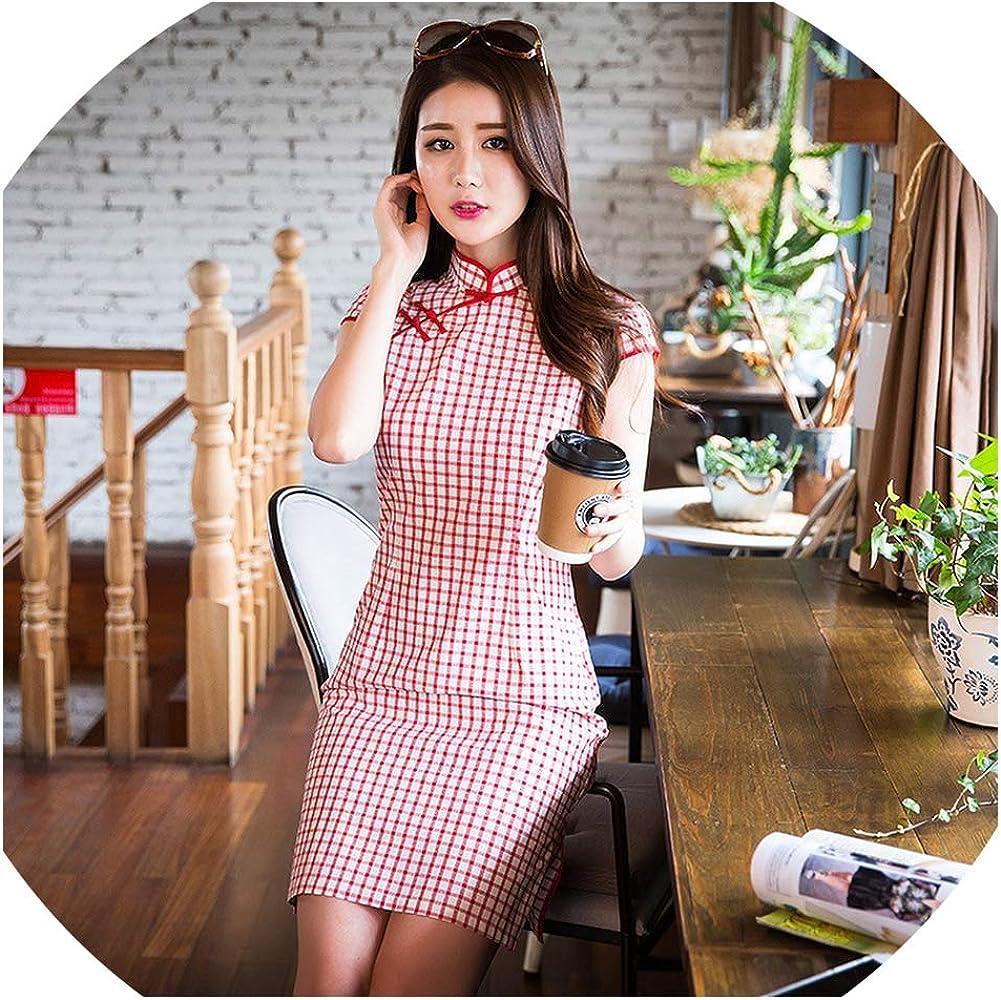Amazon.com: Summer Short Cheongsam Traditional Chinese Dress Women
