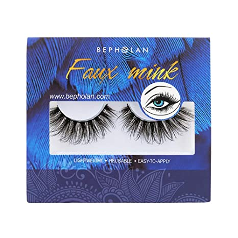 439f9cd5d3f Bepholan 3D Faux Mink Lashes Mink Eyelashes Strip Eyelashes False Eyelashes  Beauty Pack Hand Made Reusable