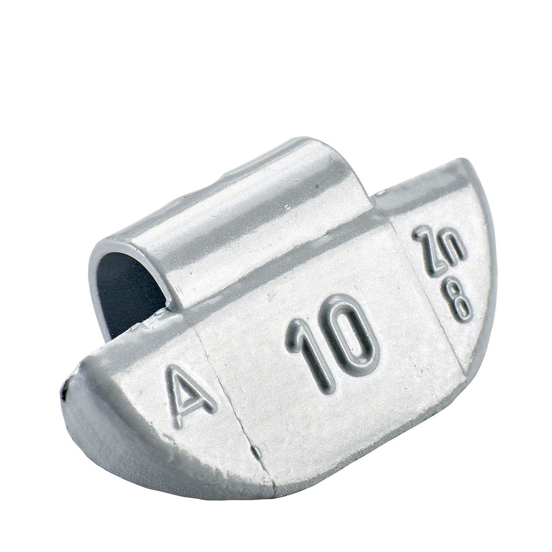 100x Schlaggewichte Alufelgen Typ63 10g Silber | Schlaggewichte Alu Auswuchtgewichte Alufelgen | Wuchtgewichte Alufelgen Perfect Equipment