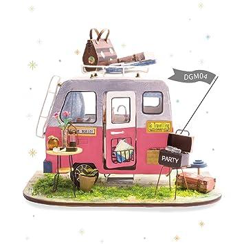 Lovely ROLIFE 3D Puppenhaus Kit Mit Möbel Aus Holz Handwerk Haus Modell Miniatur  DIY Puzzle Spielzeug