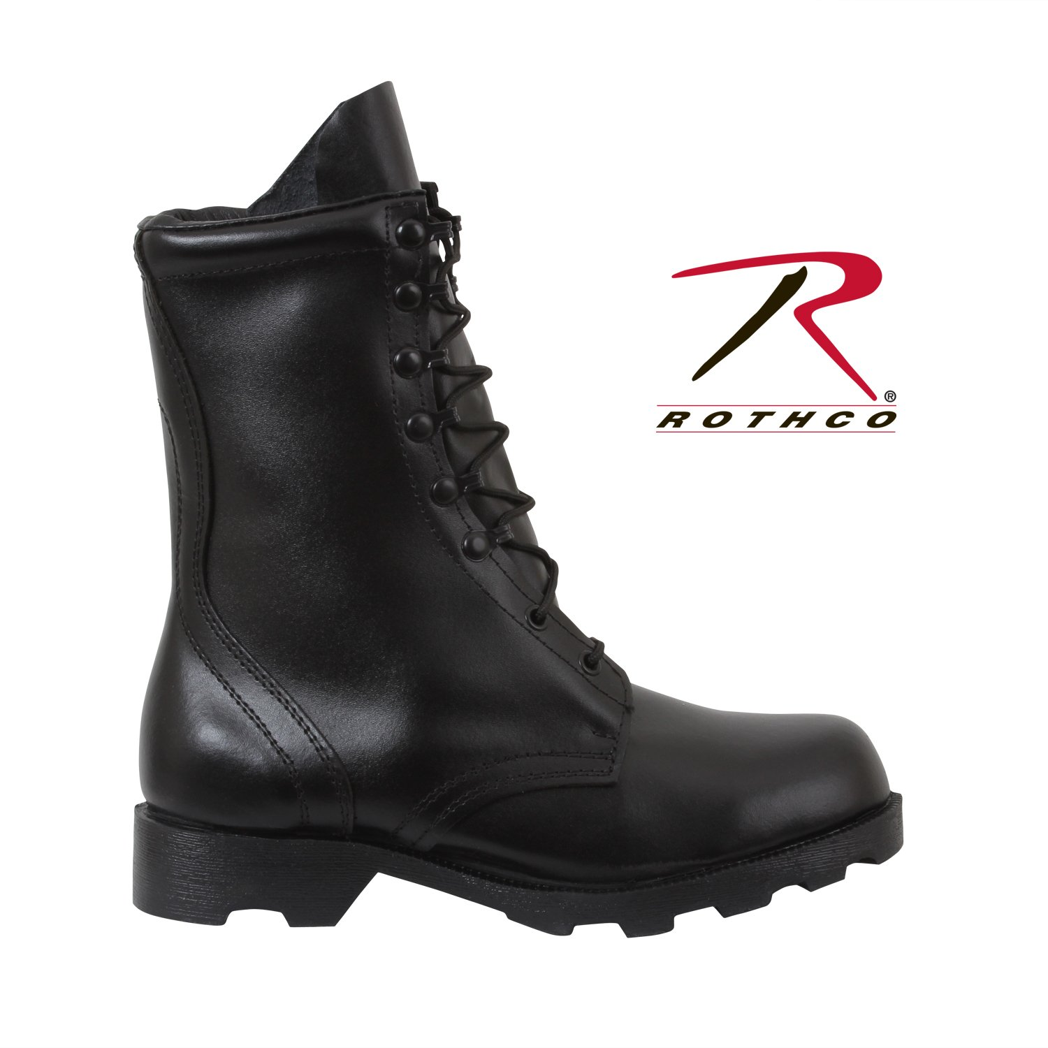 Rothco 10'' Leather Speedlace Combat Boot, Black, 11