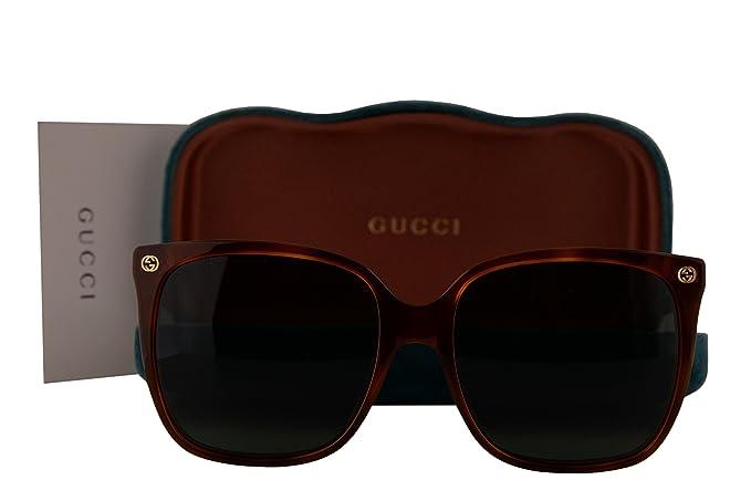 efdf3fd43679 Gucci GG0022S Sunglasses Havana w/Brown Lens 002 GG 0022S: Amazon.co ...