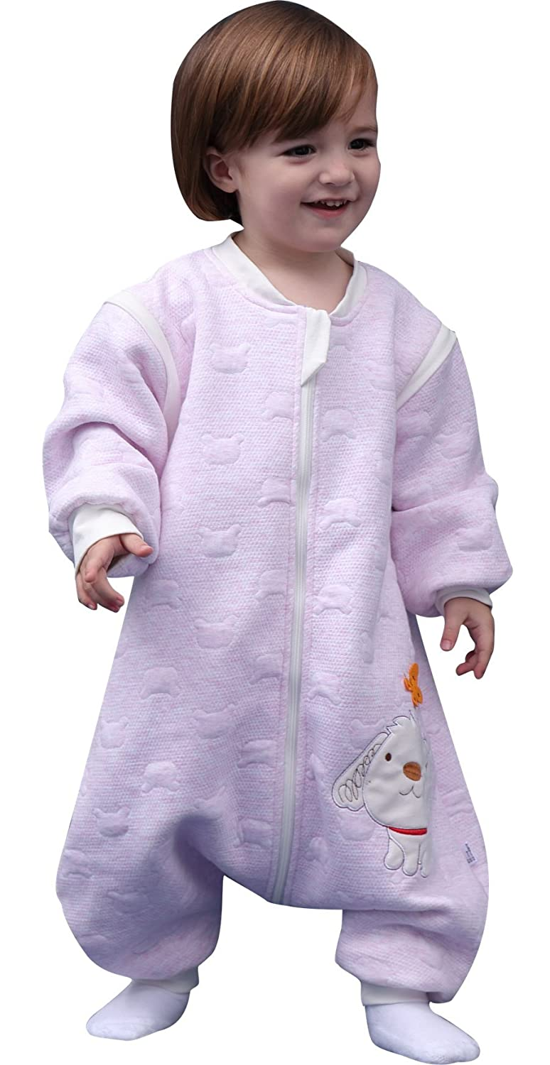 Luyusbaby Early Walker Removable Sleeve Baby Wearable Blanket with Feet Autumn& Winter