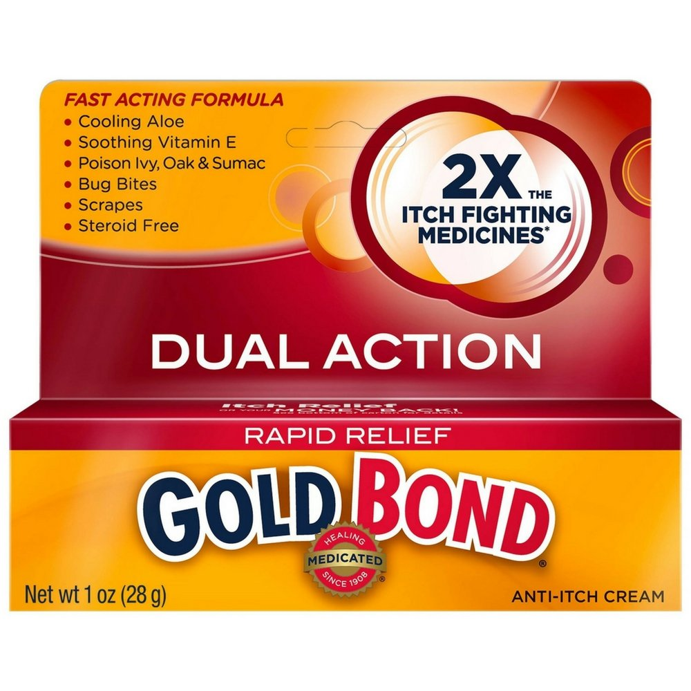 Gold Bond Rapid Relief Anti-Itch Cream 1 oz (Pack of 18) by Gold Bond
