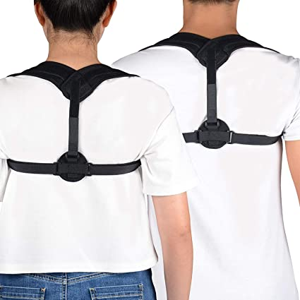 acff154302304 UncleHu Premium Adjustable Upper Back Brace Posture Corrector and Clavicle  Support Brace for Men and Women