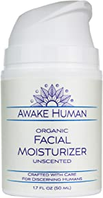 Organic Face Moisturizer, Unscented Natural Face Cream for Every Skin Type,