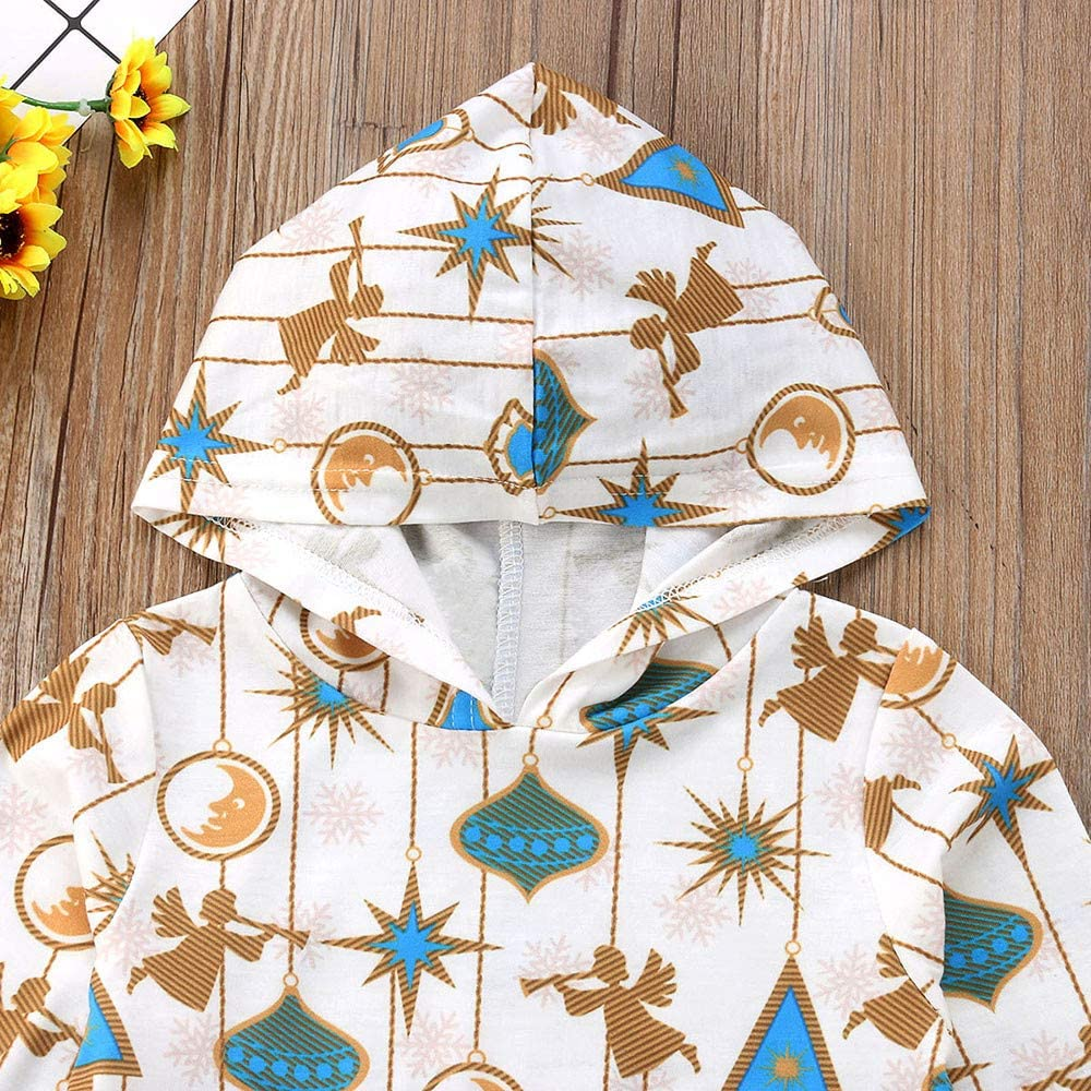 Baby Kid Outfits,Fineser Lovely Toddler Kids Baby Girls Long Sleeve Cartoon Angel Print Hoodie Tops+Pants Outfits
