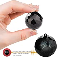 Digital Voice Activated Recorder - GolfBall Size Keychain with 132 Hours Capacity | 8GB - 32 Hours Battery Life | Unique Design by aTTo Digital