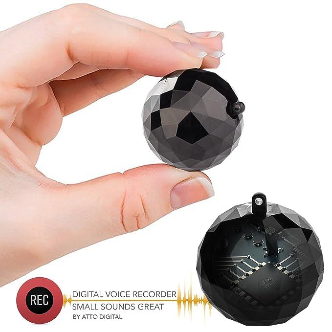 Mini Grabadora de Voz - 132 Horas de Capacidad - 32 Horas de Duración de la Batería - Sensor de Activación de Voz - ATTo Digital