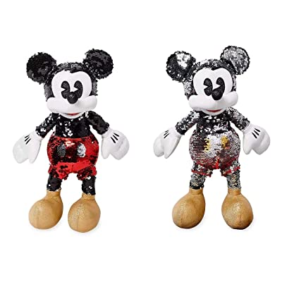limited Mickey Mouse Reversible Sequin Plush – Small – 15'' – Special Edition: Home & Kitchen