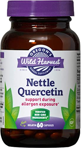 Oregon s Wild Harvest Nettle Quercetin Capsules, Non-GMO Organic Herbal Supplements, 60 Count