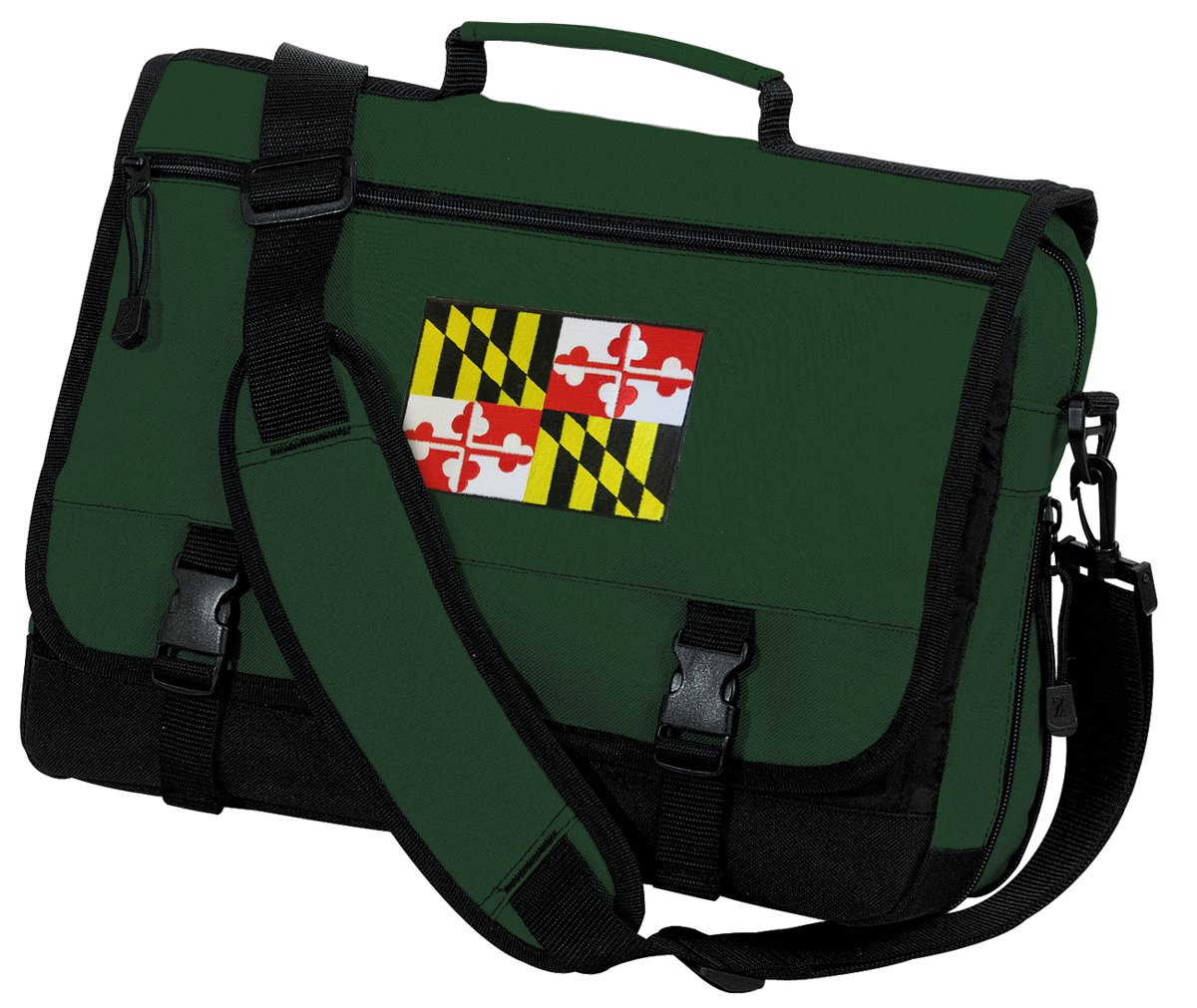 Maryland Flag Laptop Bag Maryland Messenger Bag by Broad Bay (Image #1)