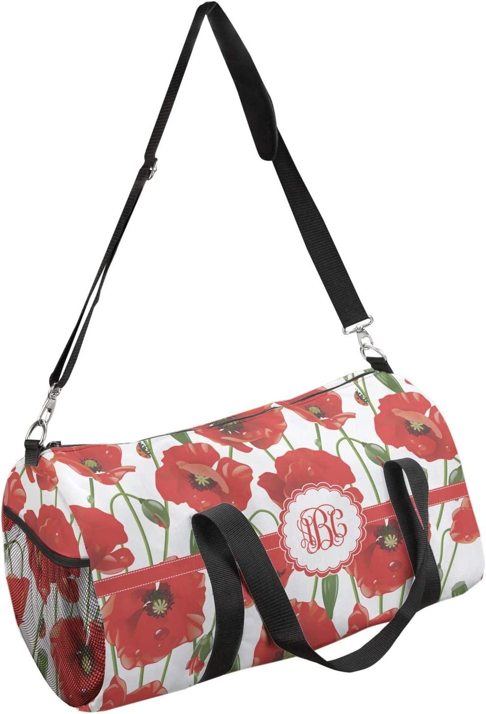 Personalized YouCustomizeIt Poppies Duffel Bag