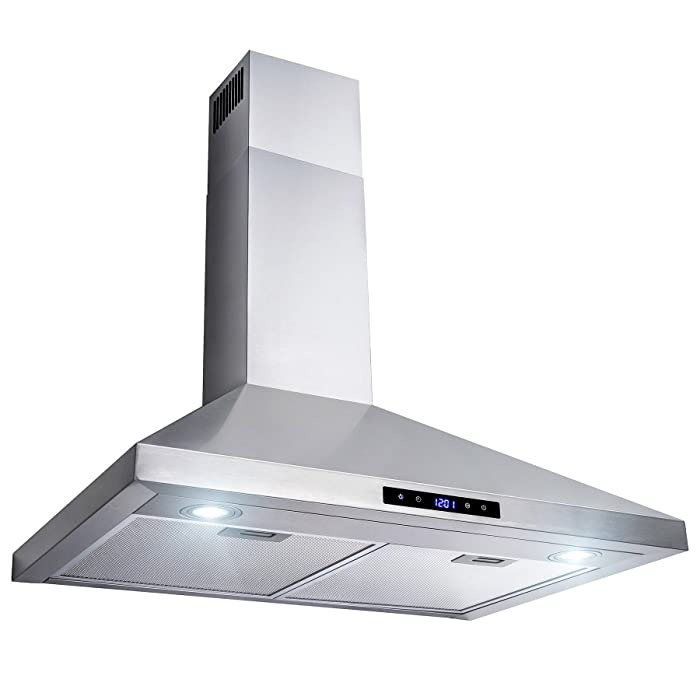 """AKDY 30"""" Wall Mount Stainless Steel Touch Control Kitchen Range Hood Cooking Fan"""