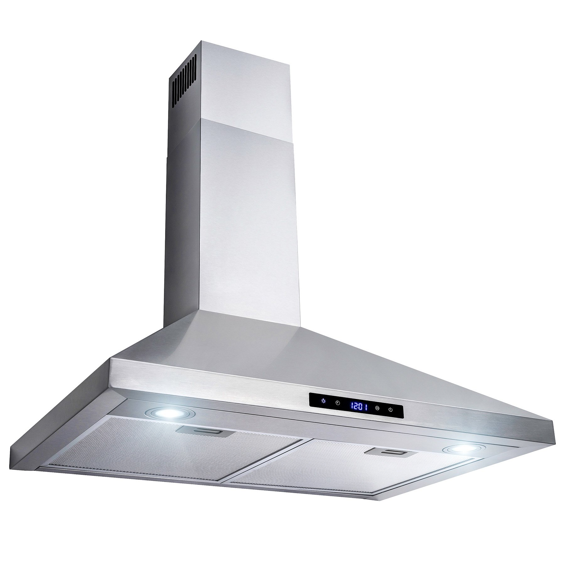 AKDY 30'' Wall Mount Stainless Steel Touch Control Kitchen Range Hood Cooking Fan