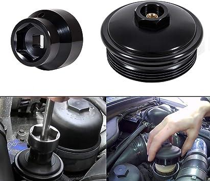 6.4L Powerstroke Diesel Fuel Filter//Oil Filter Flip Socket Black Fits 2003-2010 Ford Trucks Yoursme 6.0L