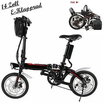 Edited 14 Pulgadas Eléctrico – Bicicleta Plegable (Ciudad Cilindro de Hombre & Mujer Bicicleta 250