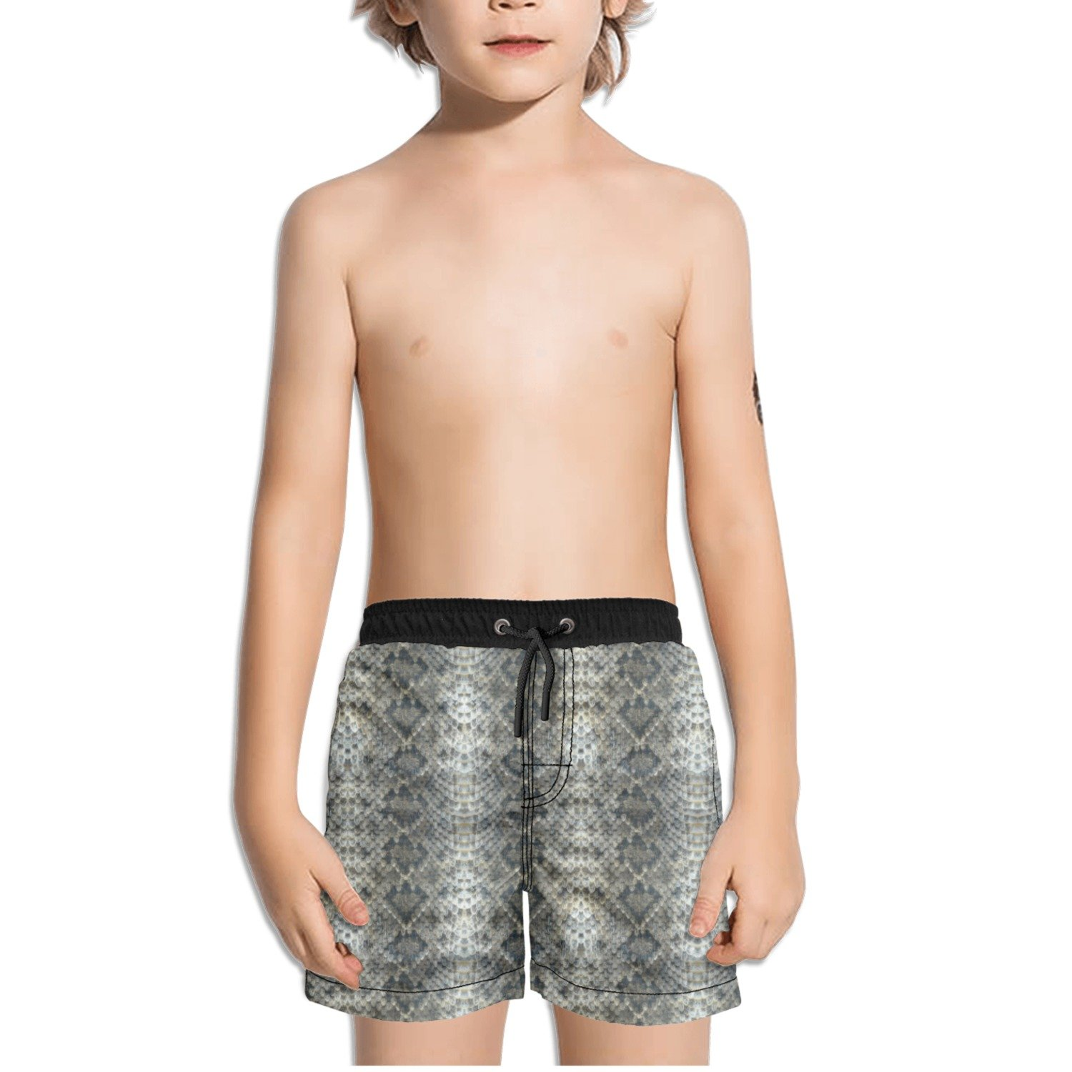 Trum Namii Boys Quick Dry Swim Trunks Print Python Snake Skin Shorts
