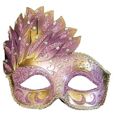 Amazon.com: Máscara de Halloween Cascade morada y dorada ...