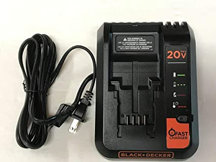Black+Decker Model BDCAC202BW 20V MAX Lithium Battery Fast Charger, 2 Amp