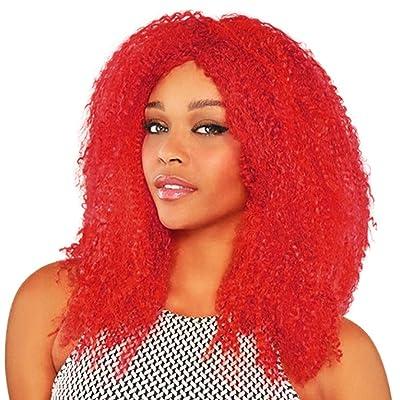 Amscan - Peluca de pelo rojo rizado afro para mujer: Juguetes y juegos