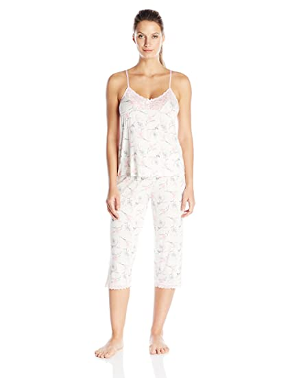 d37614aaa7f Rene Rofe Women s Adorable Lace Capri Pj Set at Amazon Women s Clothing  store