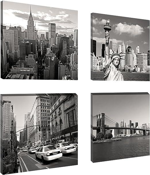 Bilder Marken Bild Leinwand auf Rahmen New York 4x20cm XXL 4 6901/>
