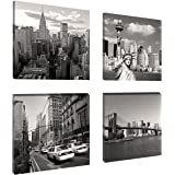 "Pictures on canvas length 4 x 8"" height 8"" Nr 6901 New York ready to hang, brand original Visario !"