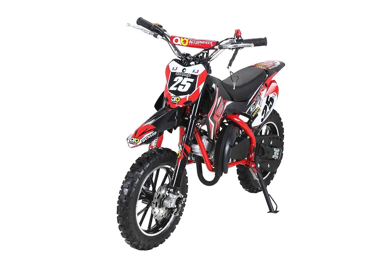 Moto de cross mini Gepard para niños, 49 cm³, 2 tiempos, incluye embrague tuning, carburador de 15 mm, fácil arranque, horquilla reforzada., ...